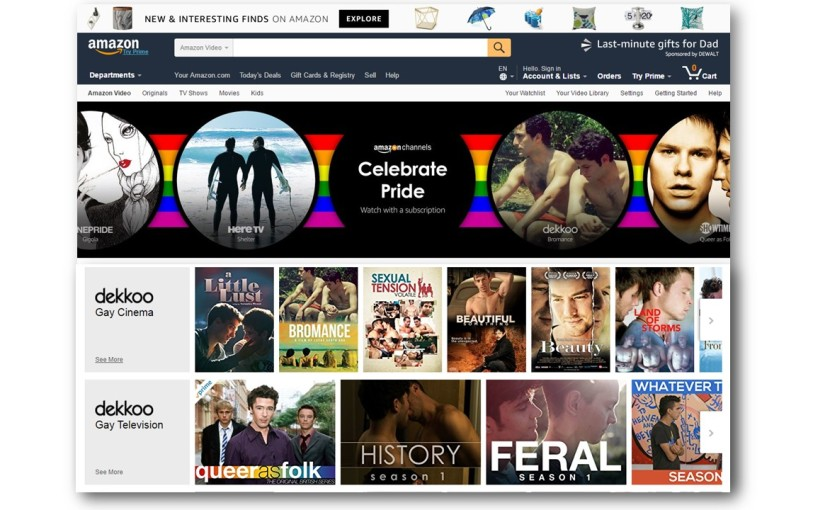 Spotlight on the Dekkoo Amazon Channel for Pride 2017!
