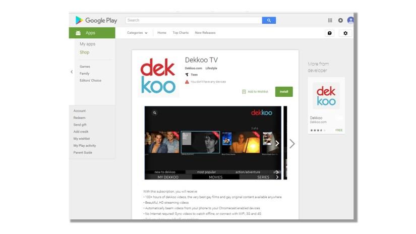 Dekkoo now available forAndroidTV!