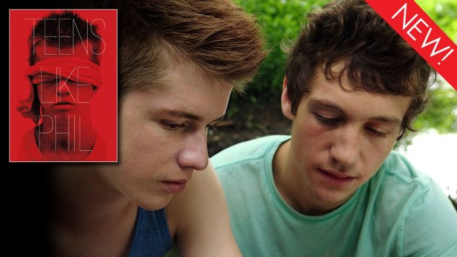 This is the collection art for short gay film Teens Like Phil now available on Dekkoo.com!