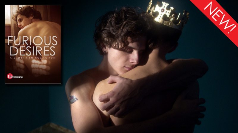 This is the artwork for the gay short film collection Furious Desires from TLA Releasing