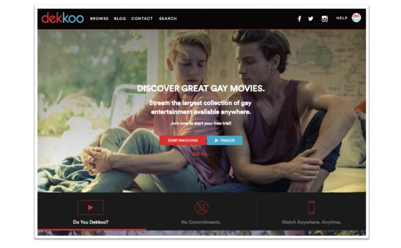 'Dekkoo: Video Entertainment for Gay Audiences' courtesy of the Huffpost