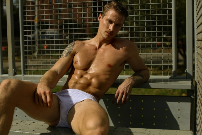 This is a photograph of model Andrew Vecchio by photographer Marco Ovando