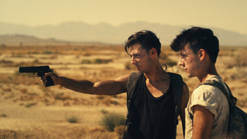 This is a photo from the gay short film 'Goodbye Blue Sky'