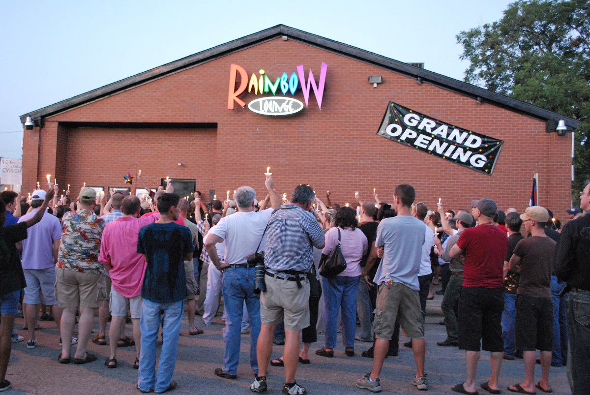 Candlelight Vigil outside the Rainbow Lounge