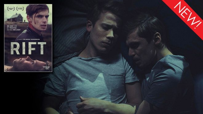 This is the art for the gay thriller, Rift