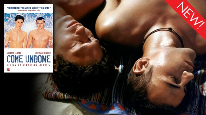This is the art for the classic gay film, 'Come Undone'