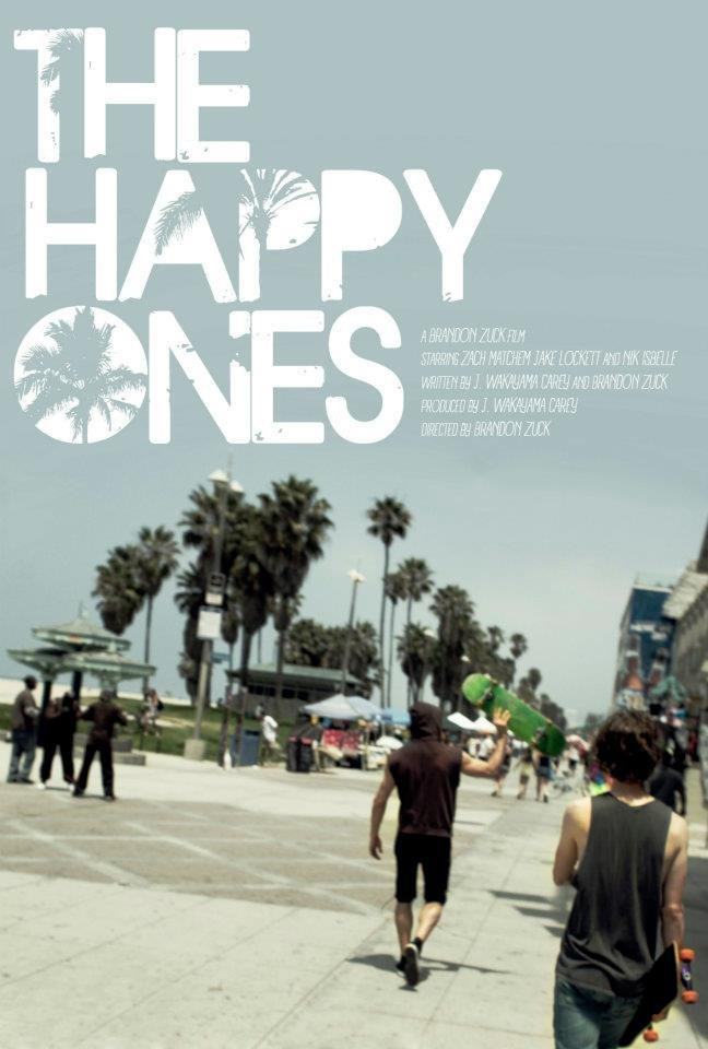 Original poster art for The Happy Ones, a short film by Brandon Zuck