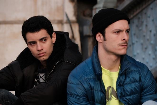 Mehdi Meskar and Eric Pucheu in Woke: Season One (Les Engages) – now streaming on Dekkoo