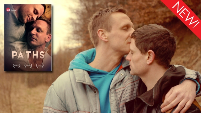 This is the art for the gay feature film, 'Paths'
