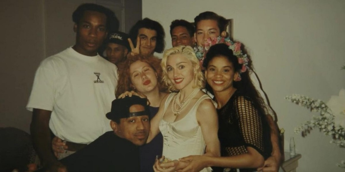 Madonna with her backup dancers from the Blonde Ambition Tour