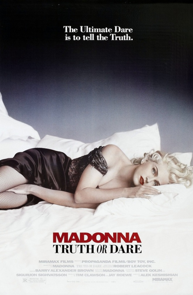 This is the original movie poster for Madonna: Truth or Dare