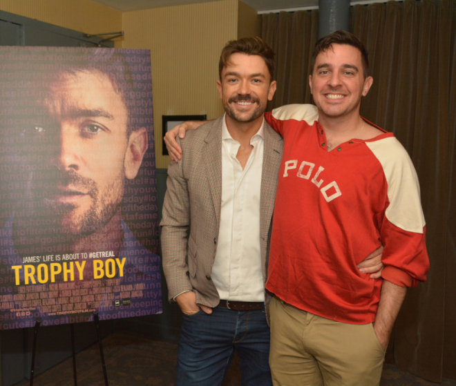 Emrhys Cooper and Anthony Johnson at the premiere of 'Trophy Boy'