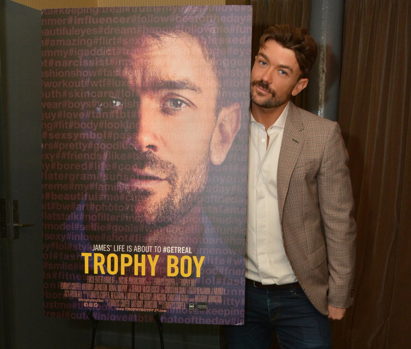 Emrhys Cooper at the premiere of his short film, 'Trophy Boy'