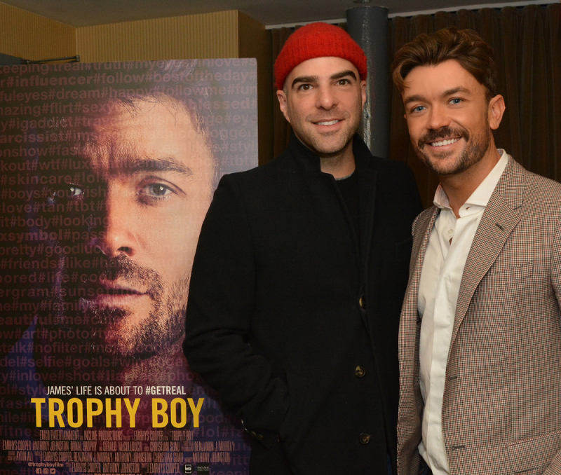 Zachary Quinto and Emrhys Cooper at the premier of 'Trophy Boy'