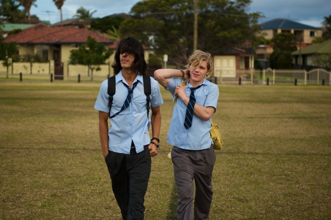 Miles Szanto and Daniel Webber in Teenage Kicks